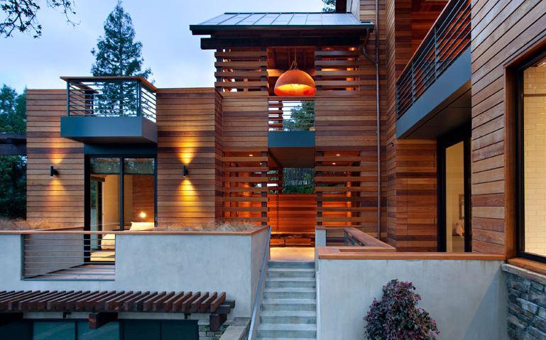 Дизайн фасада деревянных домов