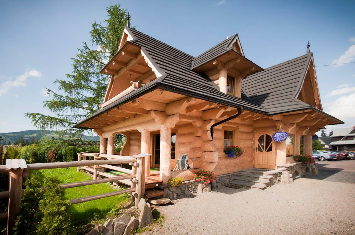 Бревенчатые домики в Польше