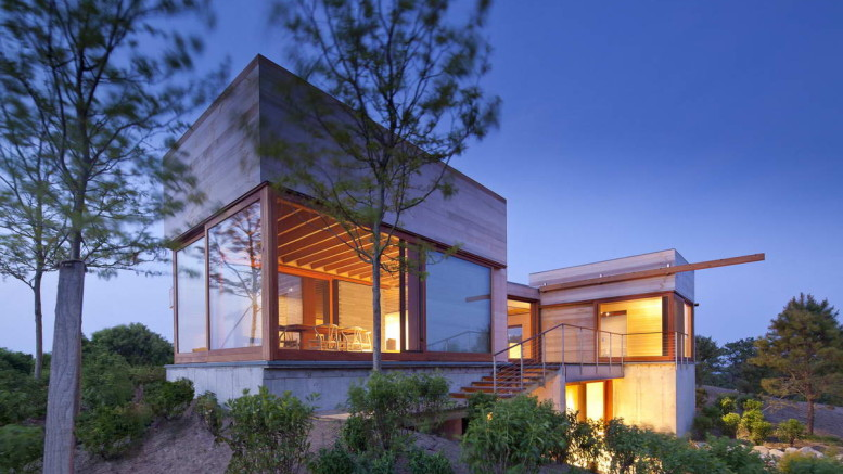 Дом на острове (Island House) в США от Peter Rose + Partners