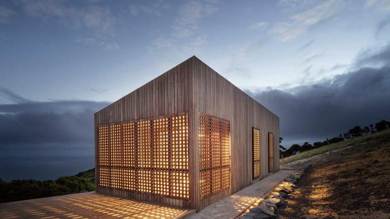 Домик «Лунный свет» (Moonlight Cabin) в Австралии от Jackson Clements Burrows.