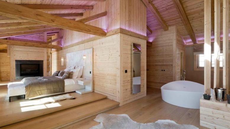 Деревянный интерьер шале в Швейцарии 2