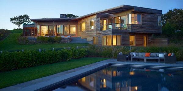 Дом на склоне у виноградника в США